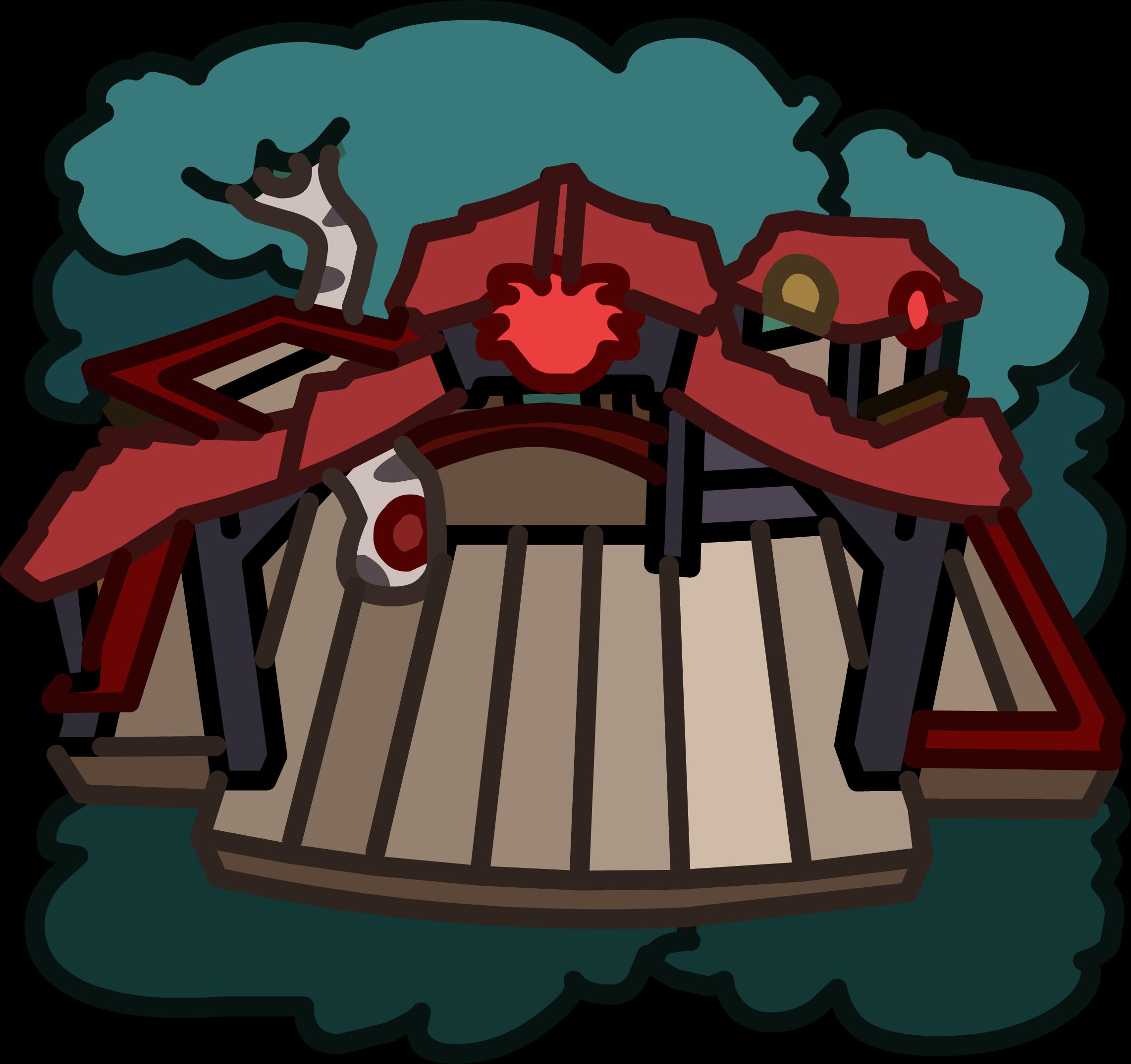 Casa de Árbol para Puffles Roja