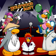 Mariocart25's Hollywood Background with the Mascots
