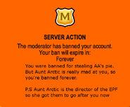 Banned forStealingAA'spie