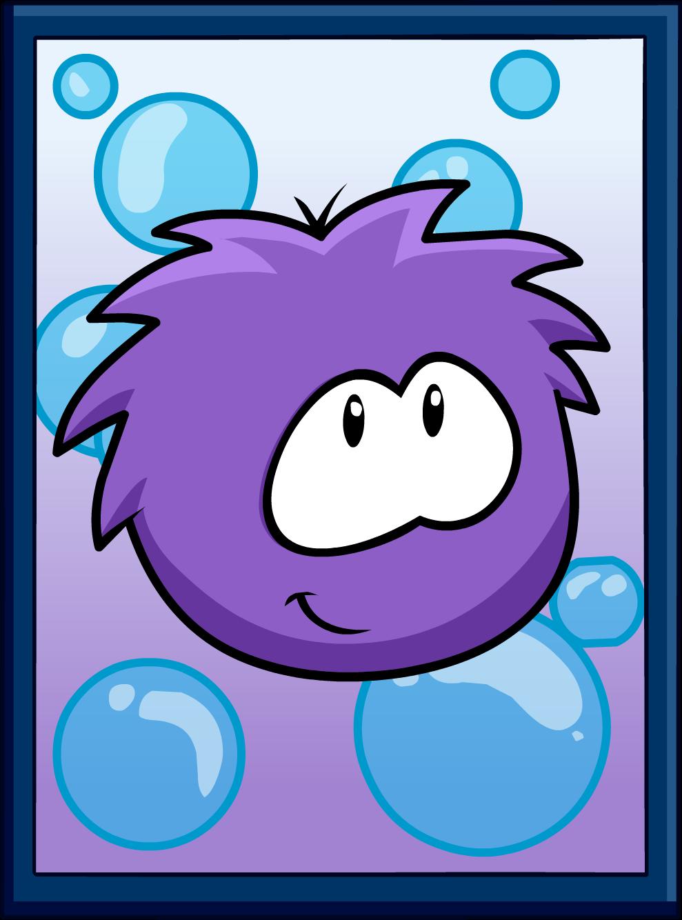 Purple Puffle Poster