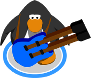 Blue Double Necked Guitar I G