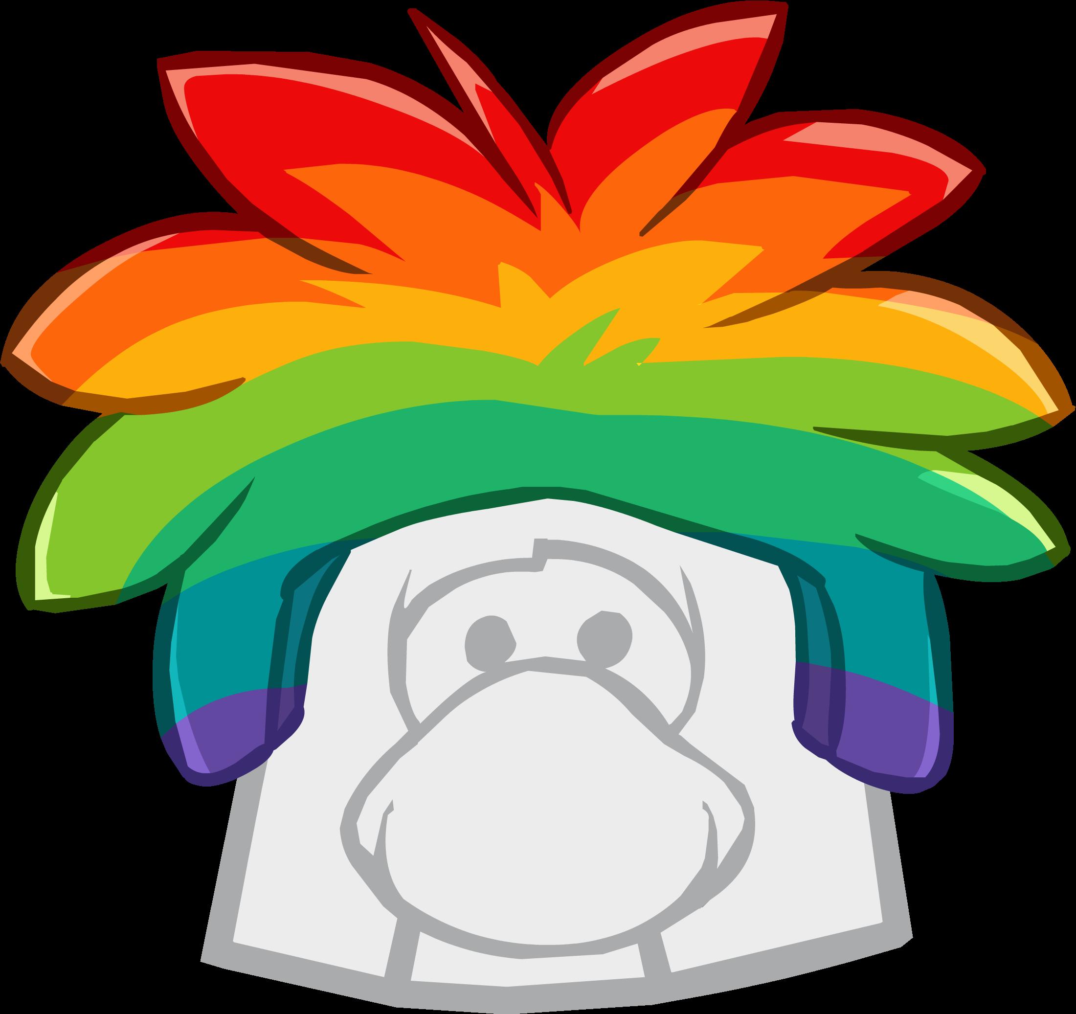 Gorro de Puffle Multicolor