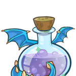 407px-Medieval 2013 Potions Blue Puffle Dragon.png