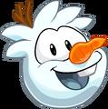 Snowman Puffle up-close