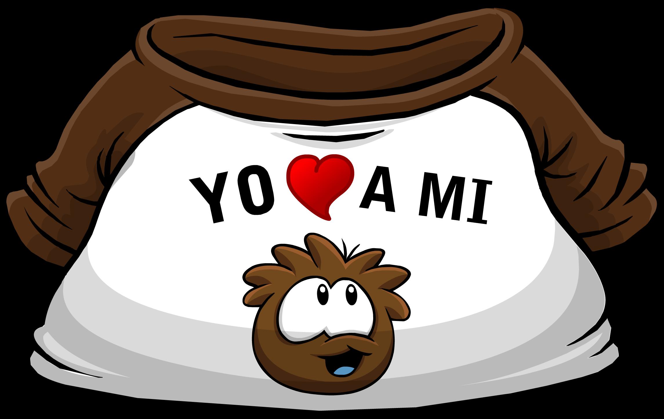 """Camiseta """"Yo Amo a mi Puffle Café"""""""