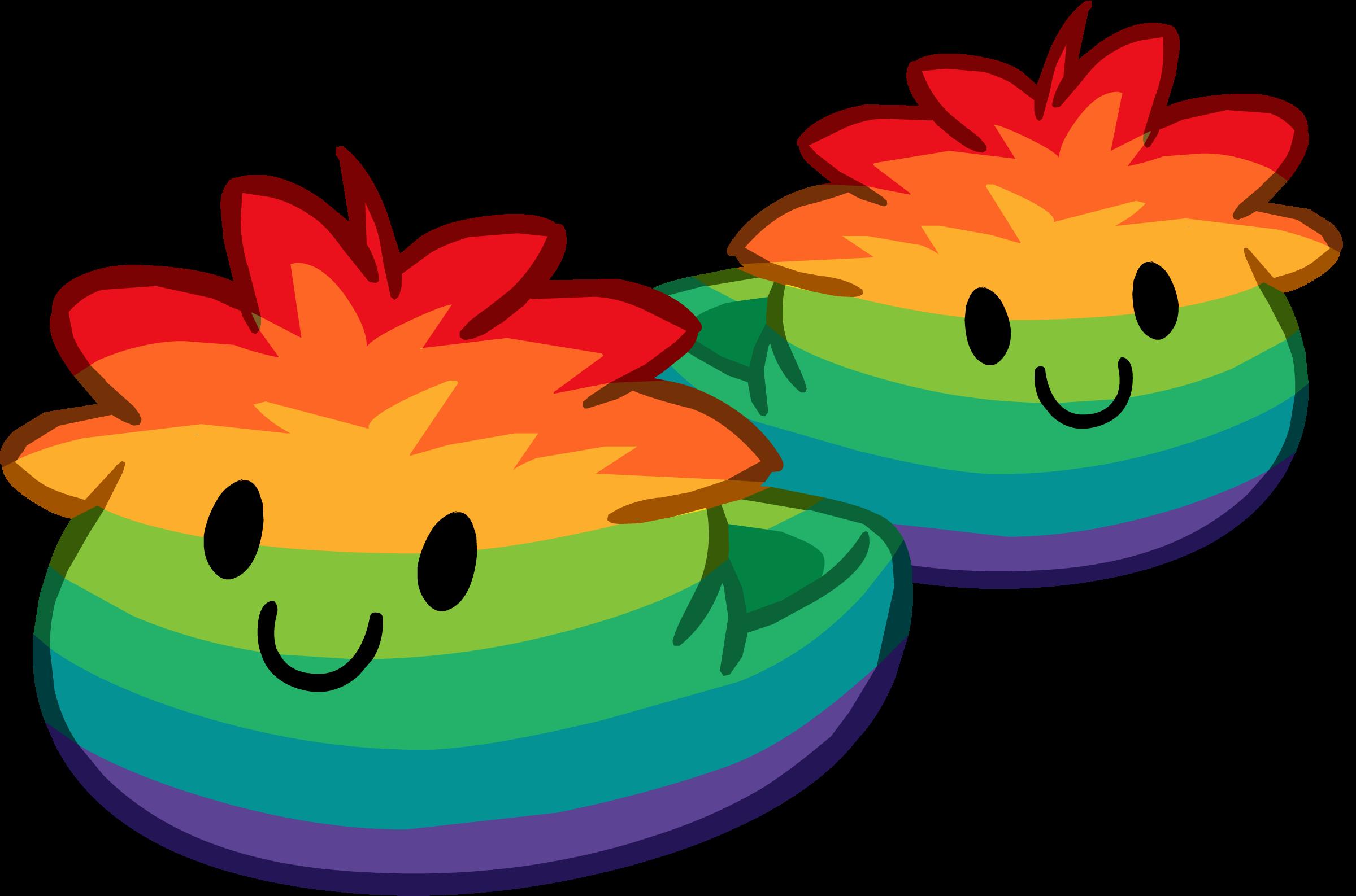 Pantuflas de Puffle Multicolor