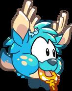 Puffle Party 2015 Comic Blue Deer Puffle