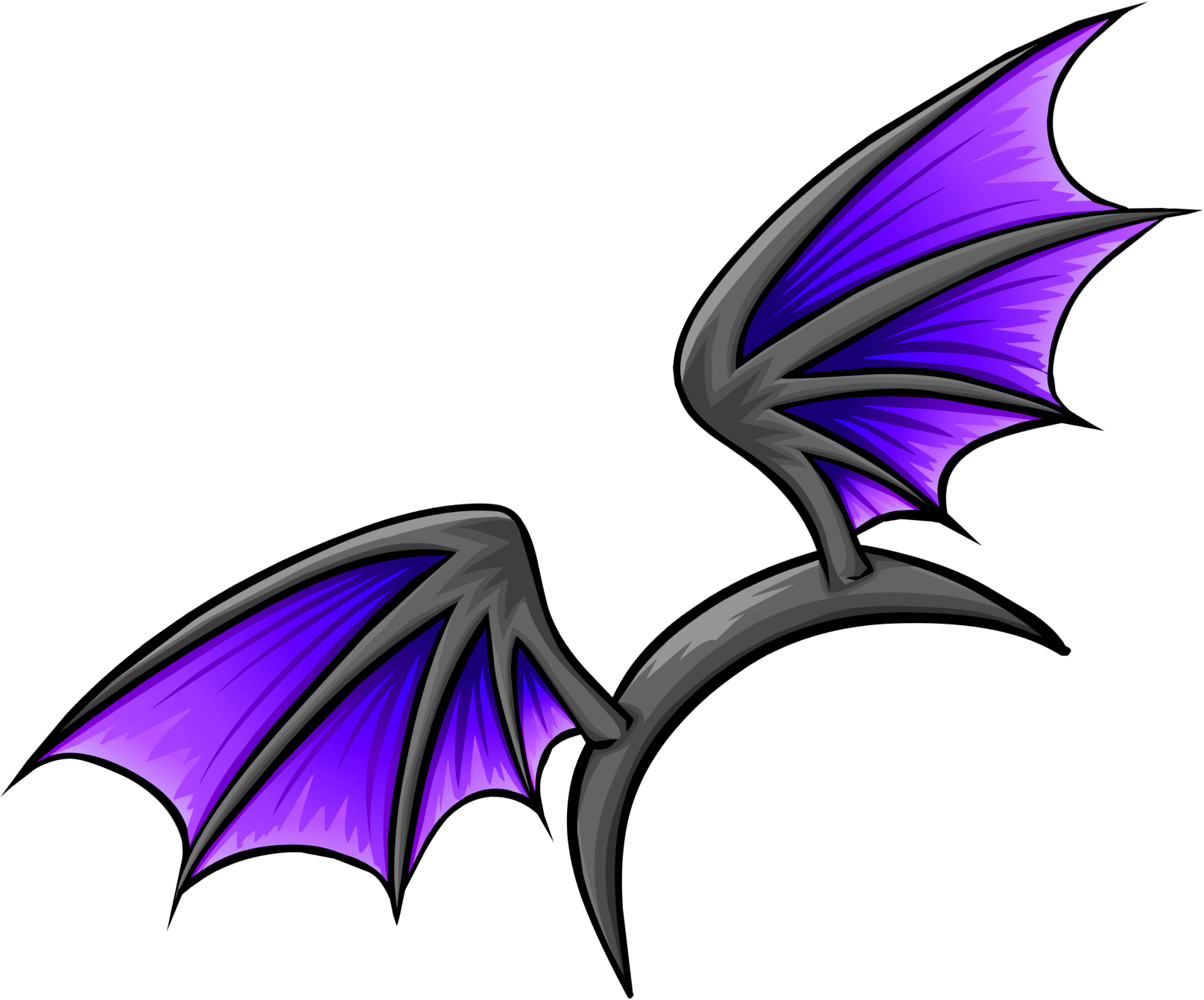 Purple Bat Wings