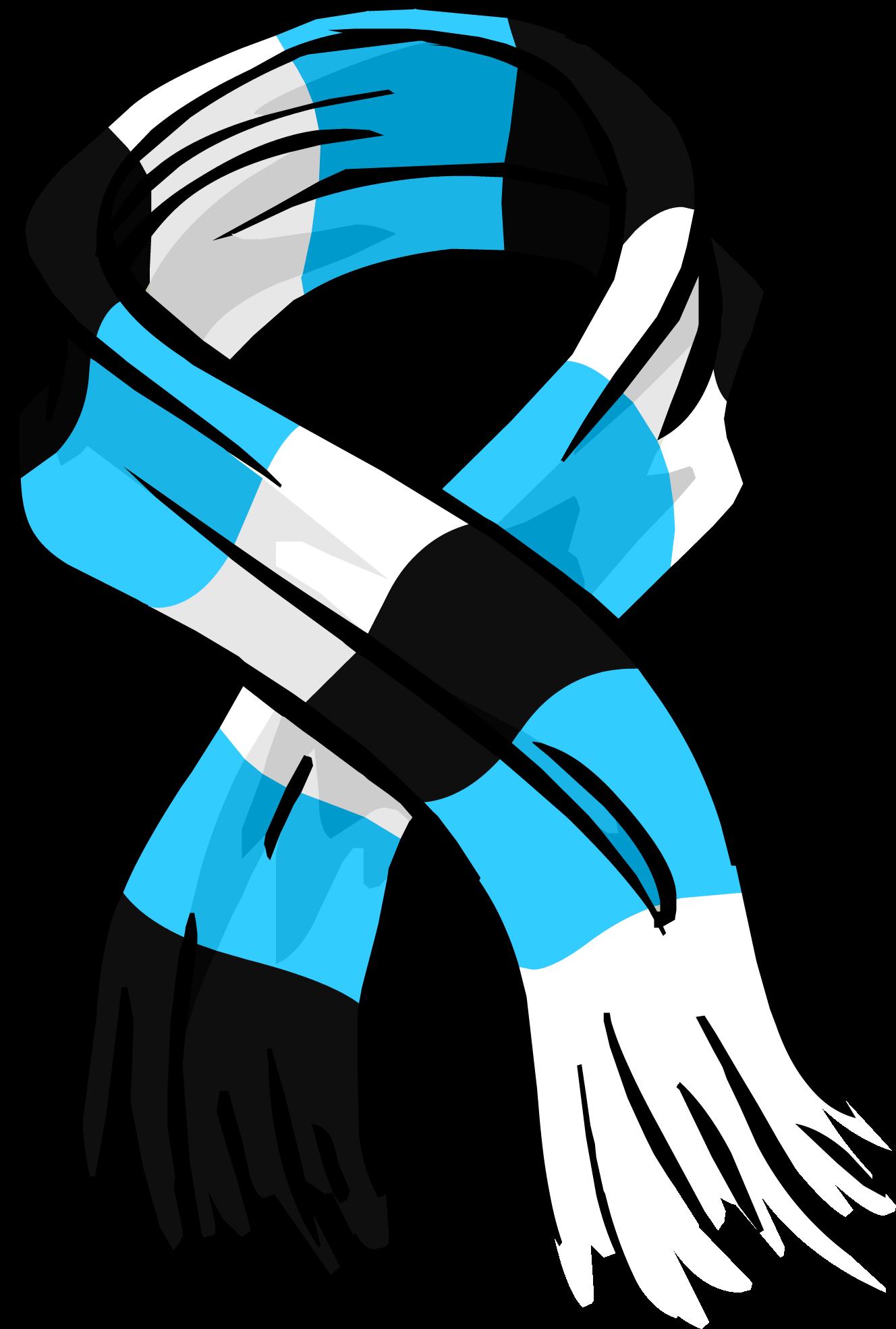 Blue Striped Scarf (ID 3035)