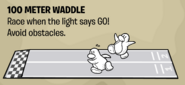 100 Meter Waddle instructions
