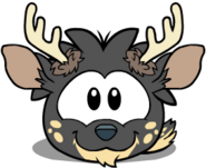 Puffle Ciervo Negro sprites