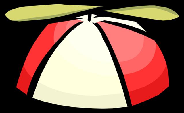 Sombrero de hélice rojo