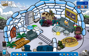 Igloo during prehistoric party 2014