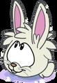Puffle conejo blanco historia sas