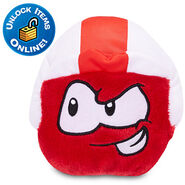 Red Puffle Plushie with Blast Off cap