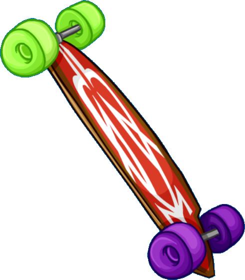 Longboard Rojo