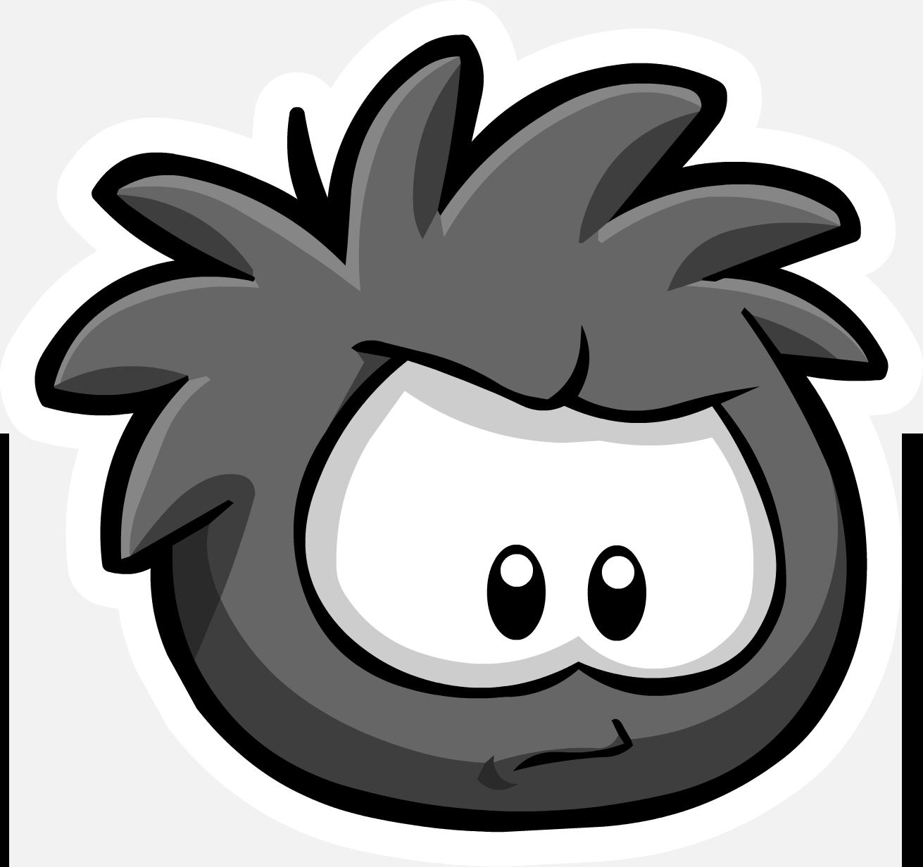 Pin del Puffle Negro