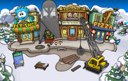 Puffle Party 2013 construction Plaza 2