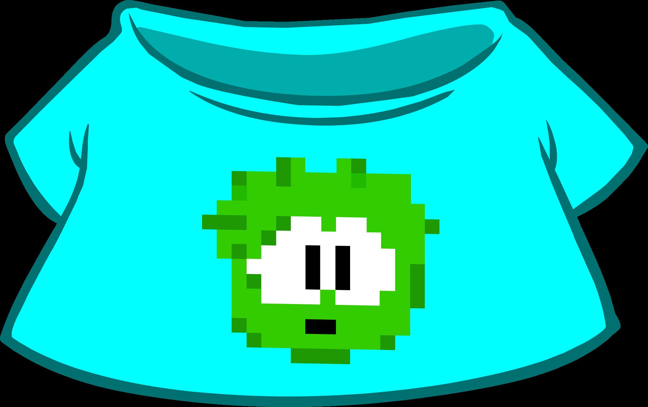 Camiseta de Puffle Pixelado Verde