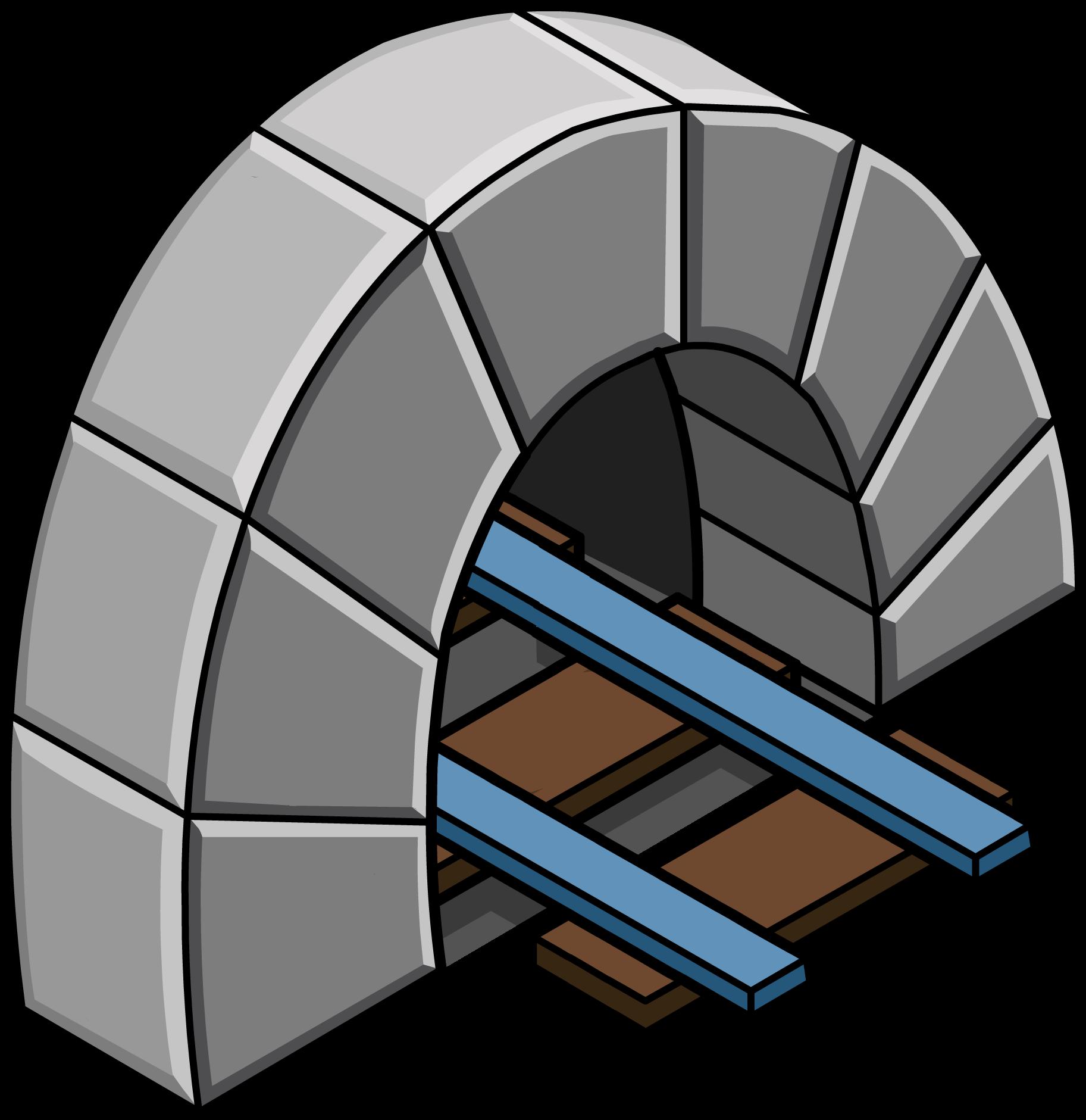 Túnel con Vía Azul