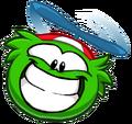 Green Funny Puffle