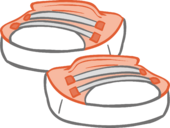 Peach Sneakers icon.png