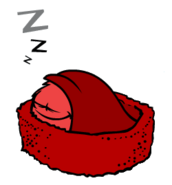 Red Puffle sleeping 2 (Wikia)