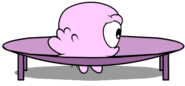 Pink puffle playing with items1