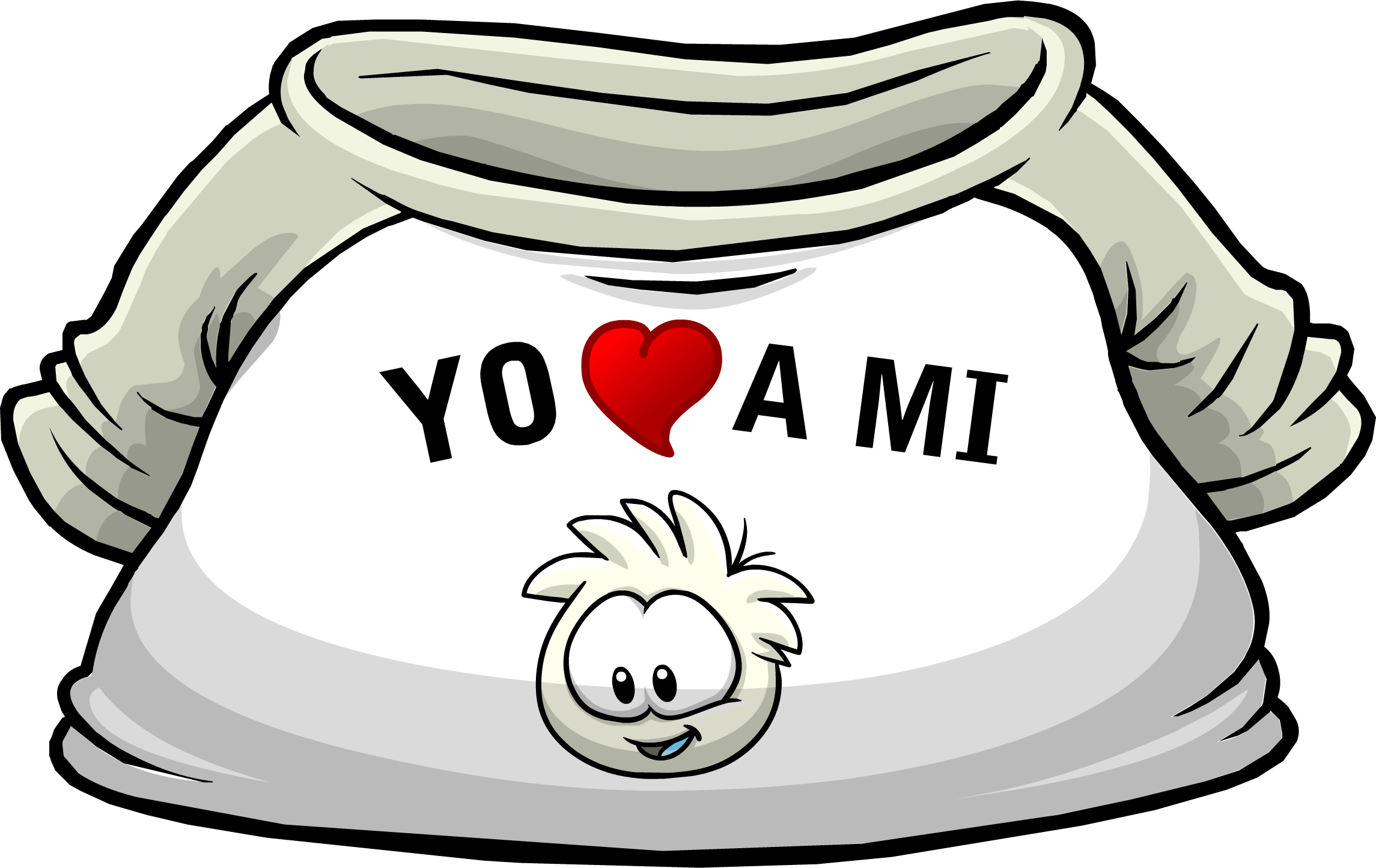"Camiseta ""Yo Amo a mi Puffle Blanco"""