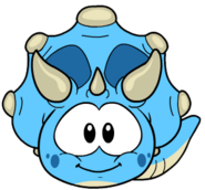 Puffle triceratops celste