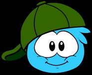 Green 180 Cap in Puffle Interface