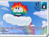 Rainbow Ran postcard