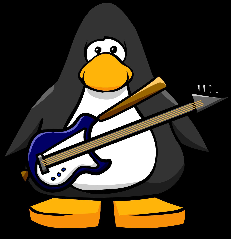 Blue Electric Bass