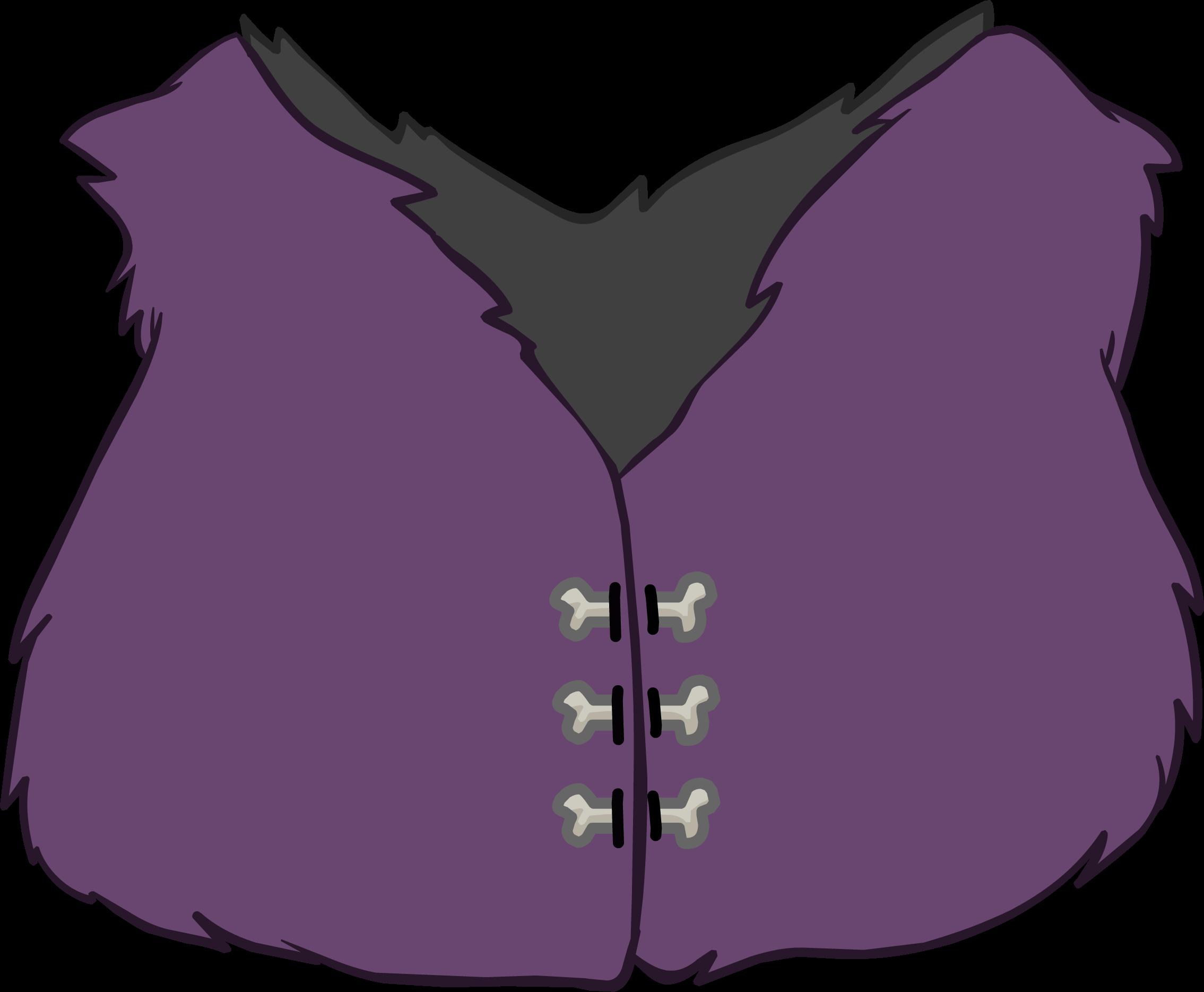 Purple Fur Vest