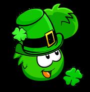 Green PufflePatricksDay