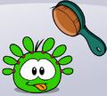 Green puffle brush