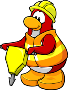 Casco rojo penguin