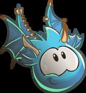 Blue Puffle Dragon