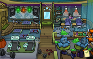 Halloween Party 2014 construction Puffle Hotel Spa