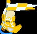 Golden armour warrior action