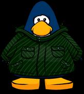 Abrigo de Invierno Verde tarjeta