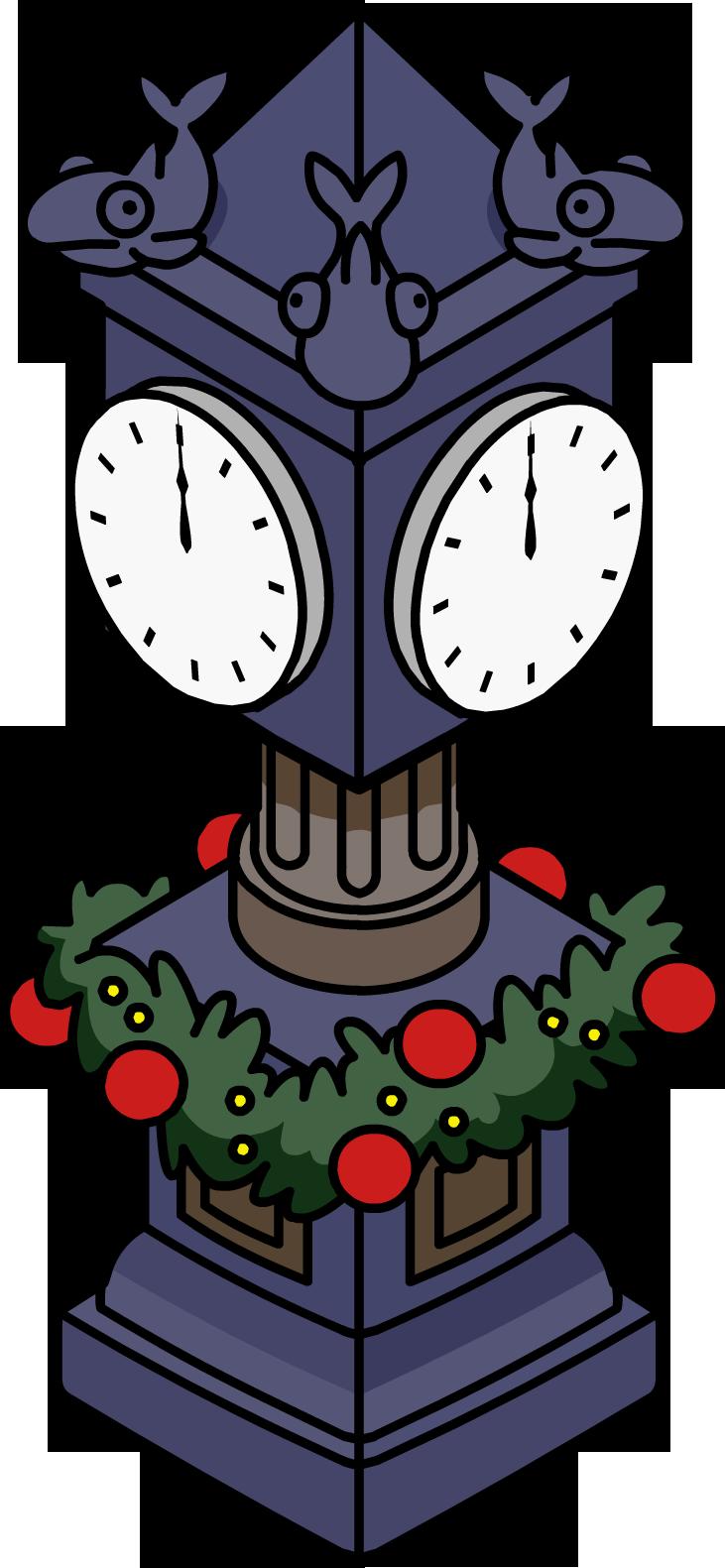 Holiday Station Clock