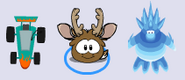 Kart Reindeer Puffle and Frost Bite In-Game Looks