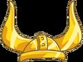 Casco de vikingo de oro solido