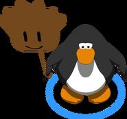 Brown Puffle Balloon in-game