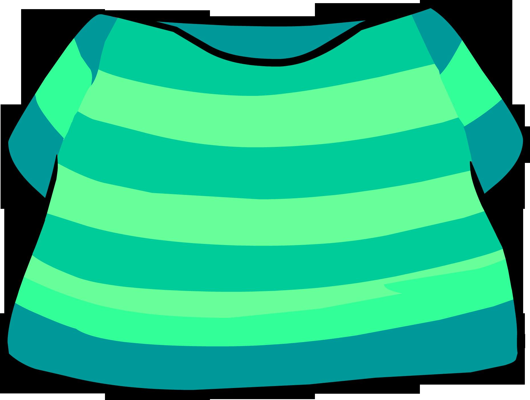 Camiseta Rayada Aguamarina