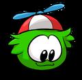 Green PuffleLookingDown