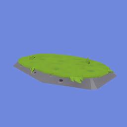 Roca Ancha con Hierba
