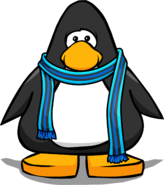 Blue Striped Scarf (3012) on a Player Card