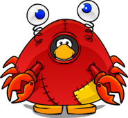 Crab Costume from a Player Card